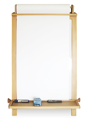 Childrens Dry Erase and Paper Roll Easel