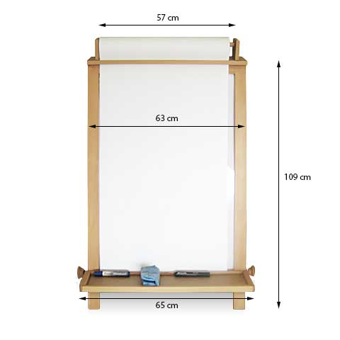 Childrens Fold Away Easel - Dimensions