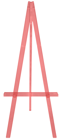 greco easel, red acrylic